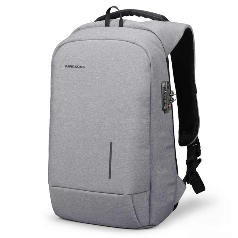 Kingsons תרמיל גברים נשים 15.6 סנטימטרים מחשב נייד אנטי גניבה Bagpack עם מנעול USB טעינת מיני חזרה נוער חבילה נסיעות תרמיל