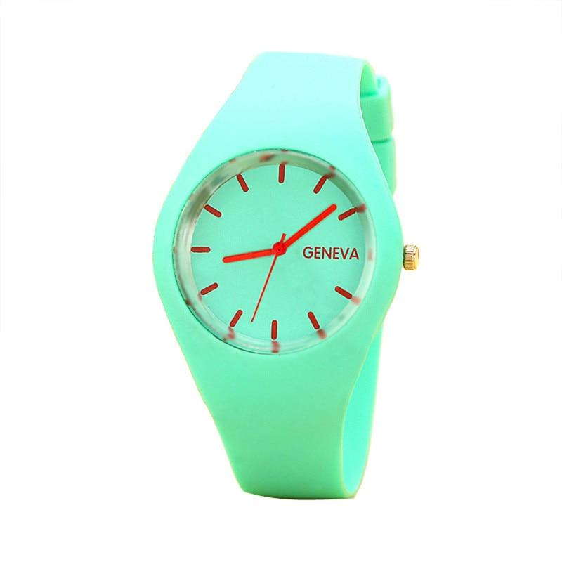2018 Fashion Brand Geneva Watch Women Sport Candy-colored 12 Color Jelly Silicone Strap Leisure Wristwatch Watches relojes mujer потребительские товары geneva relojes mujer 2015 montre g cd01