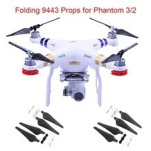 4pcs 9443 Folding Propeller for DJI Phantom 3 Phantom 2 Drone Self locking Props Carbon Fiber foldable Props Replacement Parts