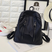 Vintage Backpack Mochila Escolar Women Backpack 2016 Hotsale School Bags for Teenagers Free Shipping Solid Leather Backpack