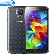 """Оригинальный разблокирована Samsung Galaxy S5 i9600 сотовых телефонов 5.1 """"Super AMOLED 4 ядра 16 ГБ Встроенная память NFC Восстановленное Мобильный телефон"""