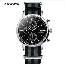 James Bond 007 Reloj de SINOBI Reloj de Los Hombres Relojes Deportivos Impermeables de Nylon Correa Cronógrafo Para Hombre Relojes Hora Reloj relogio masculino
