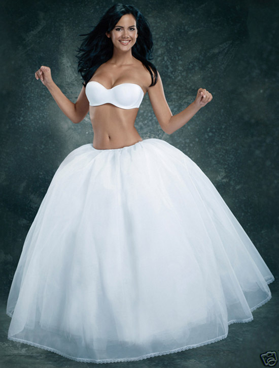 Cq021 Real Photo Ball Gown Tulle Petticoat Bridal Wedding