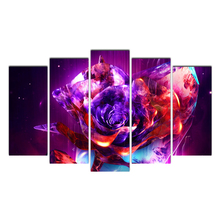 5 piece Abstract flowers canvas painting HD posters and prints canvas painting for living room free shipping Cairnsi