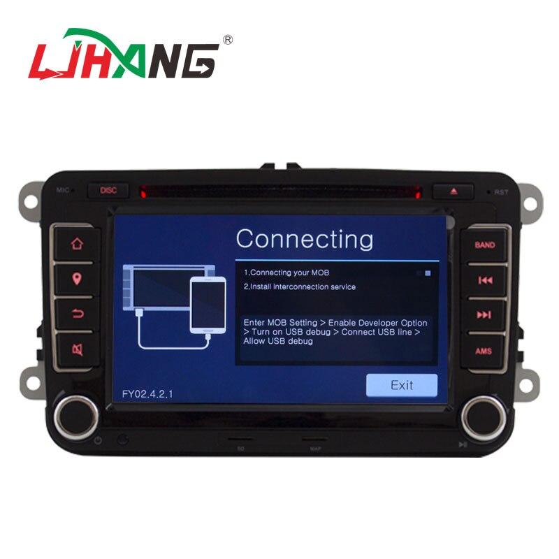 LJHANG lecteur multimédia de voiture 7 pouces 2 Din pour VW POLO/GOLF/PASSAT b6/golf 5/Skoda Octavia/SEAT LEON autoradio USB Headunit RDS - 3