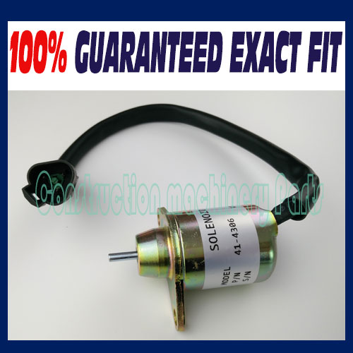 Fast free shipping, For Yanmar Fuel Shut off Solenoid Replaces Thermo King TK 41-6383 416383 / 41-4306 414306 fast free shipping fuel shutdown solenoid 1751es 12a3uc12b1s hyundai excavator r60 5 for yanmar engine