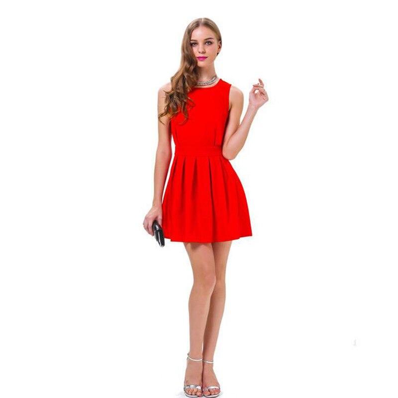 Красный Холтер женское платье Лето 2017 г. элегантный роуз-line Платья для вечеринок пикантные выдалбливают спинки клуб платье для Для женщин