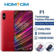 Umidigi F1 6.3″ Waterdrop Fhd+ Display Helio P60 Android 9.0 4gb Ram 128gb Rom 5150mah 18w Fast Charge Smartphone Nfc 16mp Phone