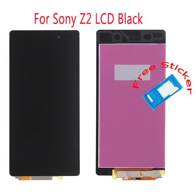 ФОТО For Sony Xperia Z2 D6502 D6503 D6543 L50W LCD Display Touch Screen Digitizer +Front and Back Adhensive Tapes