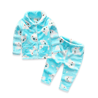 2017 Winter Baby Boys And Girls Children S Clothing Children S Flannel Pajamas Home Service Suit