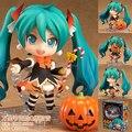 """Frete grátis bonito 4 """" Nendoroid Vocaloid Hatsune Miku Halloween Ver .. 10 cm em caixa PVC Action Figure modelo coleção Toy # 448"""