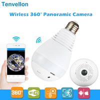 960P 360 Degree Wireless IP Camera Bulb Light FishEye Smart Home CCTV 3D VR Camera