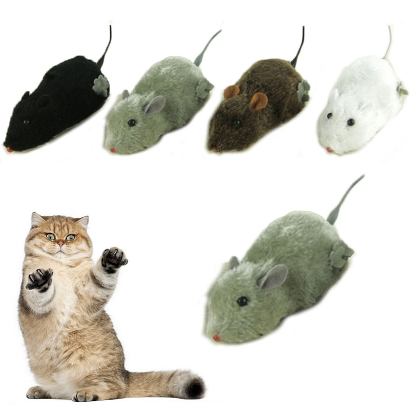 US $1 03 17% OFF Wireless Winding Mechanism Mouse Toy for Cats Plush Rat  Mechanical Motion Rats Cat Toys Interactive juguete gato kitten toys-in Cat