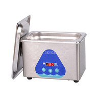 0.8L Stainless Steel Digital Ultrasonic Cleaner Machine Jewelry Eye Glasses Ultra Sonic Cleaning Machine Timing Function DK 008