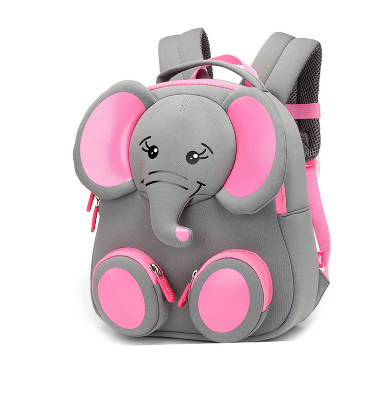2019 New Fashion Children School Bags For Girls Boy 3D Elephant Design Student School Backpack Kids Bag Mochila Escolar