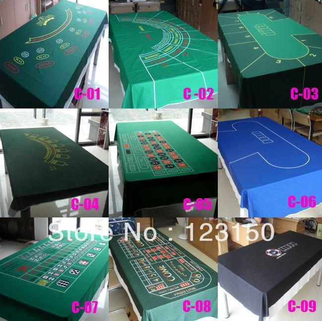 WP-001  Professional Water Resistant Poker Table Cloth,  Casino Layout Game Cloth wp contentbackup