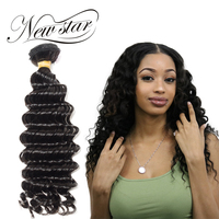 NEW STAR Deep Wave 10 34 Inches Bundles Unprocessed Brazilian Virgin Human Hair Extension Natural Color