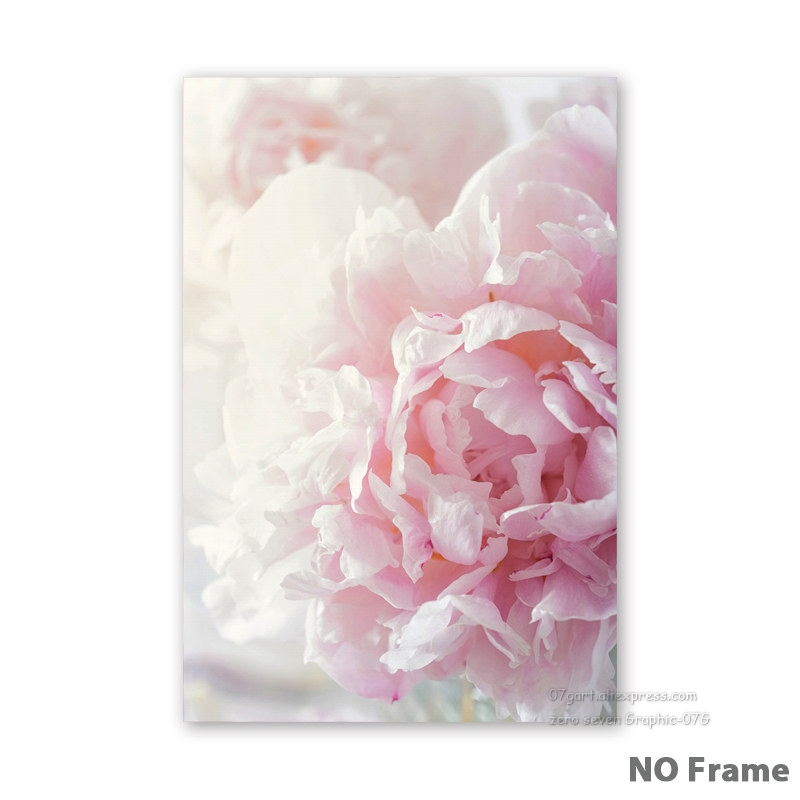 HTB1dcNFJ4TpK1RjSZFMq6zG VXaP Canvas Painting Nordic Decor Elegant Peony Flower Phrase Poster And Print Wall Art Picture For Living Room Home Decoration