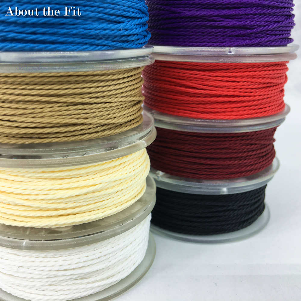 About the Fit Twisted Waxed Cotton Cord 1.0mm For Jewelry Making Handcrafts Bracelet Apparel Accessories Beading Threads