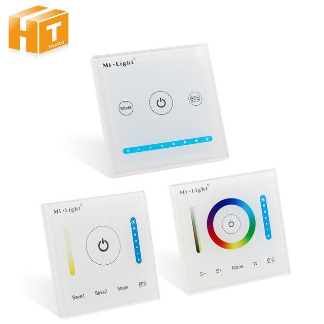 Mi light умная светодиодная Сенсорная панель контроллер для RGB RGBW RGB + CCT/двойной белый/одноцветный светодиодный свет
