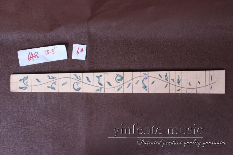 """2 개 25.5 """"메이플 우드 기타 Fretboard Fingerboard Fretless 기타 부품 Inlaid # 6"""