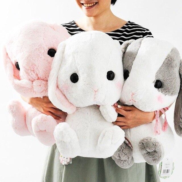 """16 """"больше, Чем Вы Думаете, Пушистое Японии Потом Сша Свисающий Плюшевый Кролик Кролик Плюшевые Куклы Сидя Жест Дети Игрушка в Подарок"""