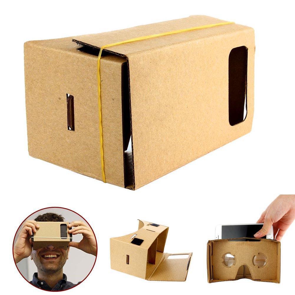 Виртуальной реальности Очки Google cardboard 3D Очки VR коробка Бесплатная кино видео источников для iPhone 5 6 7 смартфонов VR гарнитура A273
