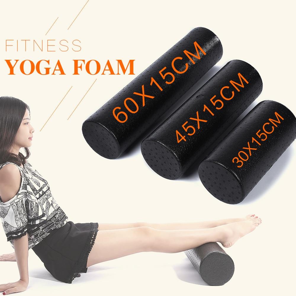 Zelfbewust Epp Yoga Gym Oefening Fitness Massage Apparatuur Foam Roller Blok Spier Ontspanning Fysieke Therapie Zwart 30 Cm 45 Cm 5.9 Inches Verfrissend En Weldadig Voor De Ogen
