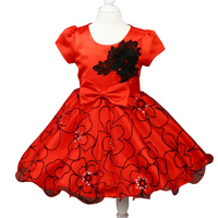 Girls Dress 2016 Children Embroidered Princess Dress Baby Girl A Christmas Dress Formal Bridesmaid Dresses Party