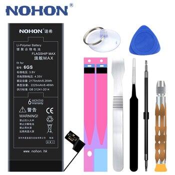 NOHON 2225 mAh o dużej pojemności baterii dla iPhone 6 S 6 S wymiana baterie telefonu komórkowego Batria dla iPhone 6 S o dużej pojemności