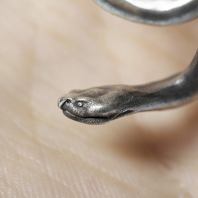 Handmade Design Snake Silver Earrings7