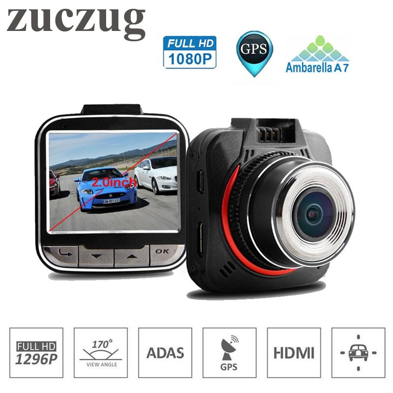 ZUCZUG ADAS voiture DVR voiture caméra Ambarella A7 Auto caméra enregistreur vidéo Full HD 1296 P 30fps 2.0 pouces LCD g-sensor HDR Dash Cam H25