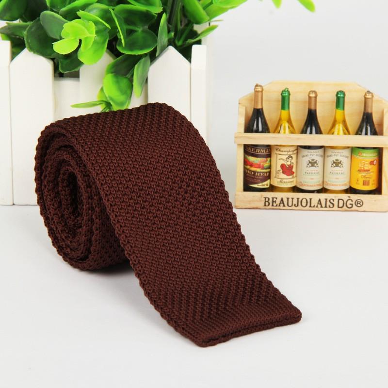 HTB1dcO2LpXXXXcaXpXXq6xXFXXX2 - Vintage Style Plain Color Knitted Ties
