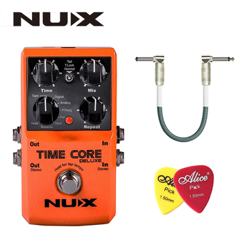 NUX Time Core Deluxe Delay Pedal Guitar Effect Pedal with Looper Tone lock True Bypass Upgrade mode