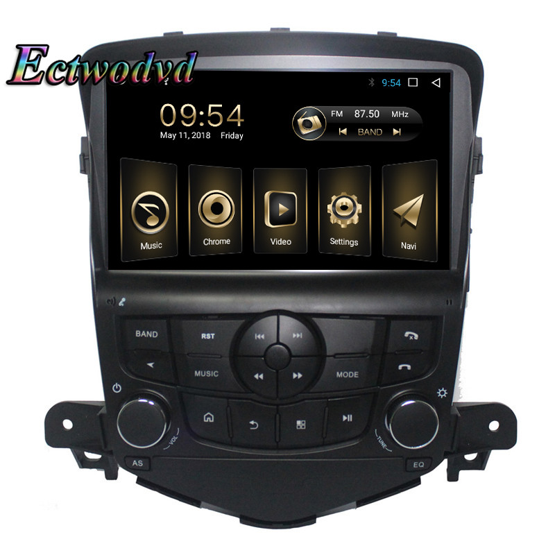 Ectwodvd Octa Core Android 8.1 2G+32G Car Radio GPS Navigation for Chevrolet Cruze 2009 2010 2011 2012 2013 2014 Car DVD Player ectwodvd wince 6 0 car multimedia player for mazda 3 2010 2011 2012 2013 2014 2015 2016 car dvd video gps navigation radio