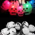 Halloween 3.5M 20 LED Skull LED String Light Battery Power Colorful LED Fairy Lights Halloween Holiday Decoration Lanterns Light