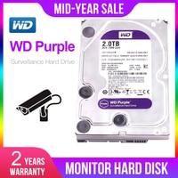 Western Digital WD Purple Surveillance HDD 1TB 2TB 3TB 4TB SATA 6.0Gb/s 3.5 Hard Drive for cctv Camera AHD DVR IP Camera NVR