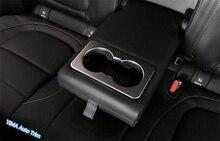 Литье гарнир! Для JAGUAR F-Темп 2017 ABS украшение автомобиля сзади держатель стакана воды Панель Рамки крышка отделка 1 шт.