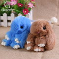 1Pc Women Fashion Cute Bunny Rex Rabbit Fur Phone Car Pendant Handbag Girl Key Chain Ring New