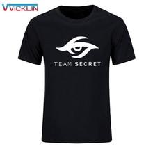 Dota2 футболка с револьверным международным приглашением TI5 хлопковые футболки DOTA 2 Team Secret футболка с принтом логотипа размера плюс