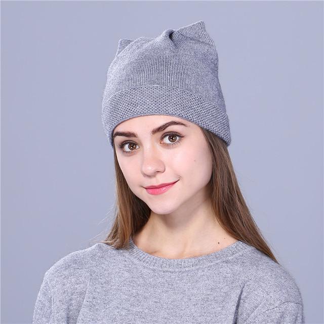 Cute Kitty Beanie Hat For Women