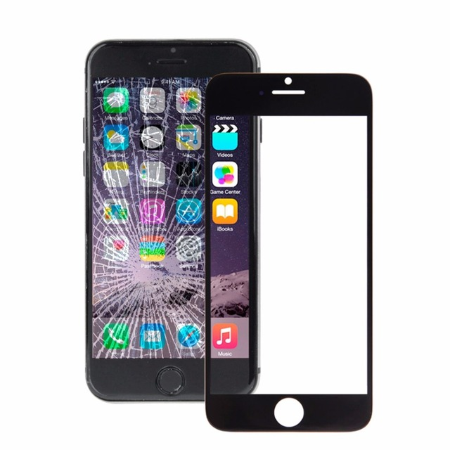 10 PCS iPartsBuy for iPhone 6 / 6 Plus Front Screen Outer Glass Lens