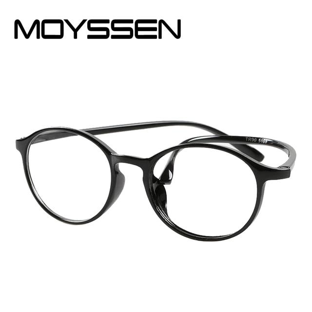9fc7f24685 MOYSSEN Flexible Ultra-light Retro Round Frame TR90 Reading Glasses  Anti-fatigue Bendable Arms Presbyopia Eyewear