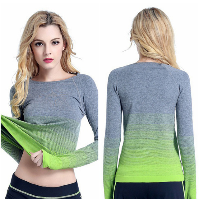 5499d0c7d7184 Breathable Yoga Shirts Ropa Deportiva T-shirt For Sports Clothes Gym Long  Sleeve Top Sport Shirt Women Sporting Jerseys