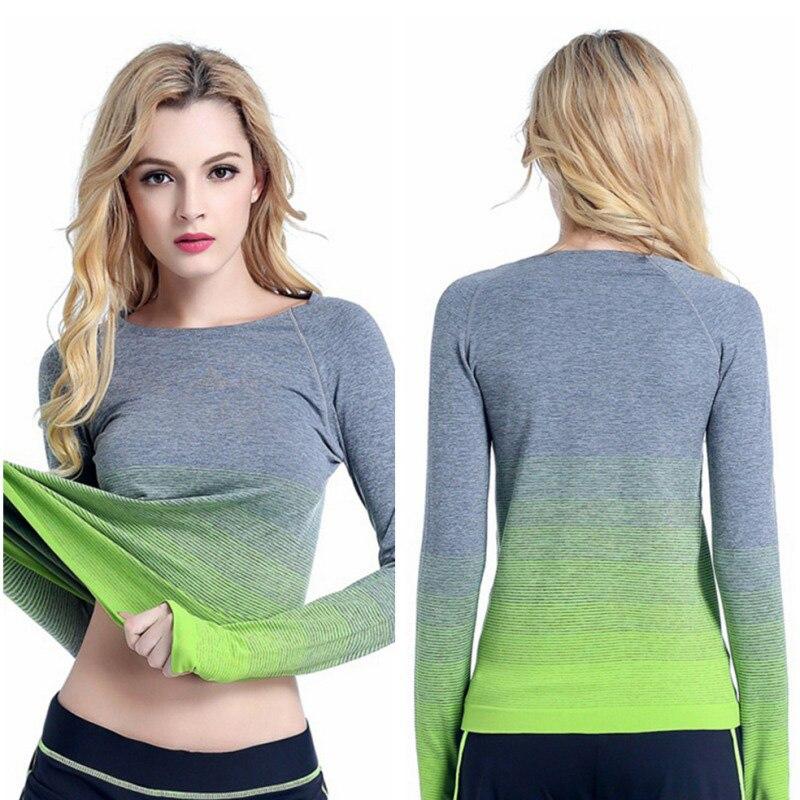 Respirant Yoga Chemises Ropa Deportiva T-shirt Pour Vêtements de Sport Gym Haut À Manches Longues Sport Chemise Femmes Sportives Maillots