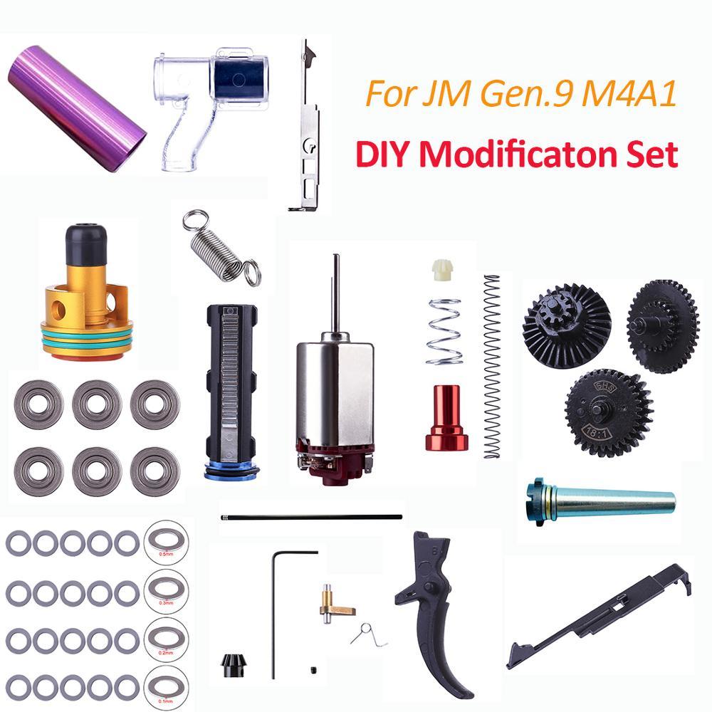 2018 Kit modifié haute Performance pour JM Gen.9 M4A1 Modificaton de boîte de vitesses et Kit de Test de pièces de jouet de pistolet de mise à niveau de haute qualité