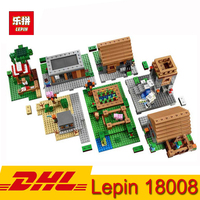 1673pcs Lepin 18008 My World Series Village Model Building Kit Blocks Bricks Children Toy DHL