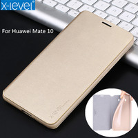 X Level Luxury PU Leather Flip Stand Cover For Huawei Mate 10 Business Style PU TPU