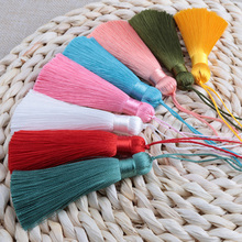 Mibrow 5pcs/lot 24 Colors 9cm Mixed Cotton Silk Tassels Earrings Charm Pendants Satin for DIY Jewelry Making Findings