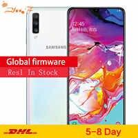 Espera dupla do cartão duplo da impressão digital da tela grande do telefone móvel da tela completa de samsung galaxy a70/a7050 6 gb/128 gb